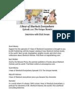 Transcript - I Hear of Sherlock Everywhere Episode 210