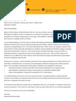 Cover Letter for Electromotives PVT Ltd