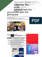 A paso seguro, las tiendas de conveniencia son las preferidas por los peruanos _ Mercado Negro