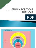 GOBIERNO Y POLITICAS PUBLICAS
