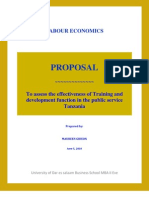 Proposal - To assess the effectiveness of Training and development function in the public service Tanzania