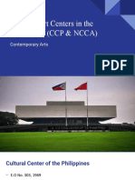 Presentation No, 6 - National Art Centers in the Philippines (CCP & NCCA)