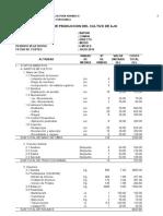 COSTOS DE PRODUCION DE CULTIVOS  EN LA REGION HUANUCO