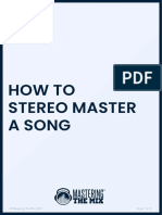 How To Stereo Master A Song - Mastering The Mix