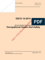 EBCS 14 Health and Safety