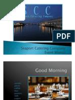 Seaport Catering Company Event Menus