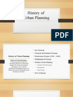 History of Planning