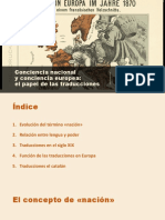 Conciencia nacional y conciencia europea