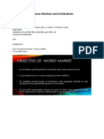 Finance Markets and Institutions