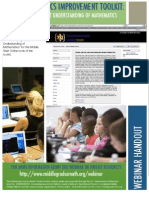 Webinar Handout - Developing Student Understanding in Mathematics