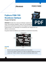 Fujikura FSM-70S Help-Guide French