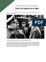 Política exterior en la España del s. XX