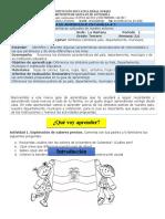 3° Guía 3 Sociales P1 Simbolos Patrios