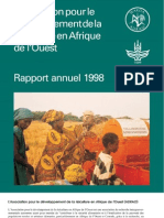 AfricaRice Rapport annuel 1998