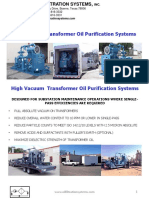 High VacuumTransformer Oil Purification Systems