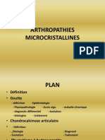 4- Rhumatologie - Arthropathies Microcristallines
