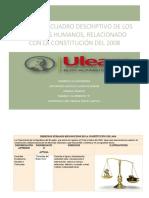 DERECHOS HUMANOS RECONOCIDOS EN LA CONSTITUCIÓN DEL 2008