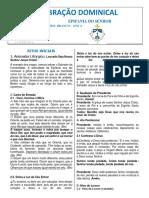 FOLHETO 03 DE JANEIRO 2021 - EPIFANIA DO SENHOR