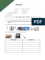 High and Low Pressure Worksheet