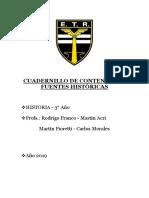 Cuadernillo - Historia 3ero