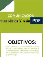 COMUNICACION SINCRONICA Y ASINCRONICA