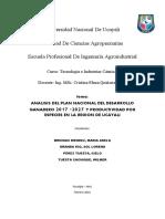 Análisis Del Plan Nacional Ganadero 2017-2027