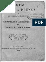 Cartas Sobre La Prensa y La Política Militante en La República ARgentina