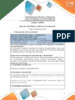 Guia de actividades y Rúbrica de evaluación - Fase 5 Evaluación final