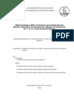 Hiperactividade e Défice de Atenção Em Contexto Escolar - IsABEL LOURENÇO - 2009