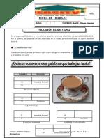 Ficha de Trabajo de Lenguaje Tildación Diacritica i Semana Nº 1 Tercer Bimestre