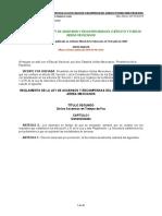 1.   REGLAMENTO DE LA LEY DE ASCENSOS Y RECOMPENSAS  (1)