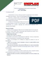 Roteiro de prática institucional PSICOPEDAGÓGICA