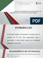 Slides Transferência de tecnologia na agriultura