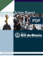 De Blasio Action Report