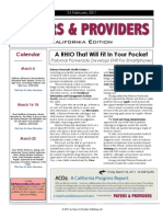 Payers & Providers California Edition – February 24, 2011