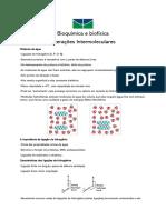 Bioquímica e biofísica - Interações Intermoleculares (aula 2)