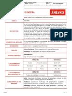 FICHA TECNICA LECHE ALQUERIA ENTERA