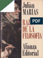Julian Marias Razon de La Filosofia