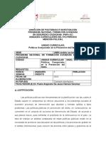 Unidad Curricular PNFA Políticas Comparadas en la Prevención del Delito, Periodo V Nivel Doctorado UNES 2021 PADJHS