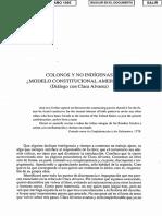 CLAVERO -Colonos Y No Indigenas ModeloConstitucionalAmericano