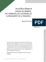 Las cuatro etapas de Freire en sus cinco pedagogías