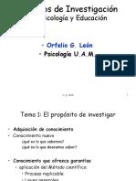 León, Orfelio G. y Montero, I. (2003). Métodos de Investigación en Psicología y Educación Powerpoint