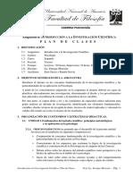 Plan de clase Introducción a la Metodolgía de la Investigación Científica - 2do 3ra - 2013