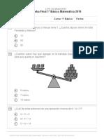 Prueba Matematica 1
