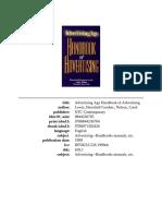 Advertising Age Handbook of Advertising