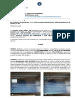 DERECHO DE PETICIÓN ART 23 C.N. Y QUEJA CONTRA INSTRUCTOR DEL CURSO ASESORÍA PARA EL USO DE LAS TICS