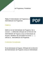 4 Administrador de Programas y Oficina de Administracion de Programas
