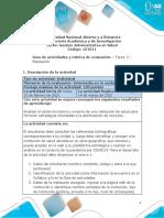 Guia de Actividades y Rúbrica de Evaluación - Unidad 1 - Tarea 2 - Planeación