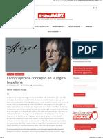El concepto de concepto en la lógica hegeliana - Rafael Aragüés Aliaga (2021)