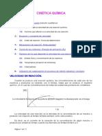 La rapidez de una reacción Guia de estudio para la resolucion de ejercicos